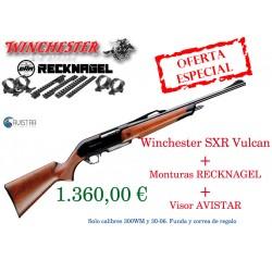 PACK WINCHESTER SXR VULKAN+MONTURAS RECKNAGEL+VISOR AVISTAR