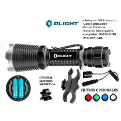 KIT OLIGHT M23 JAVELOT 1020 LUM. RECARGABLE